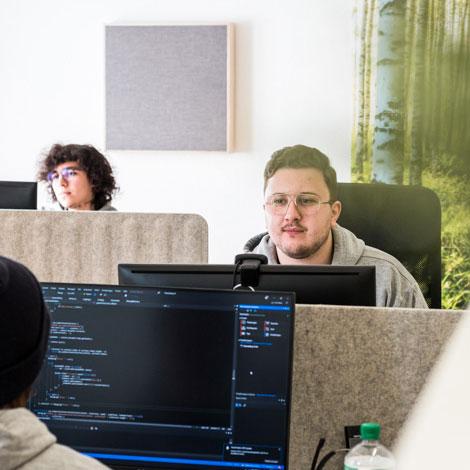 Mitarbeiter im Office Space